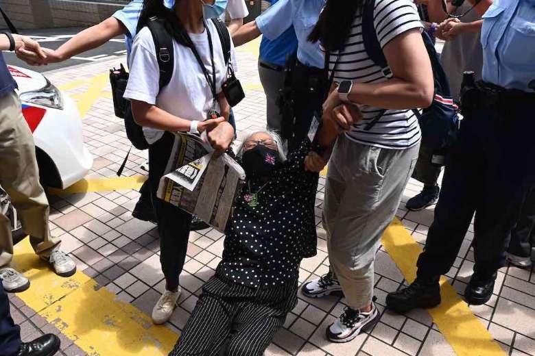 Hong Kong media executives denied bail under security law