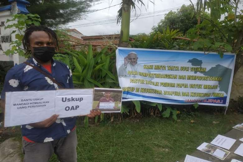 Praying for a Papuan prelate