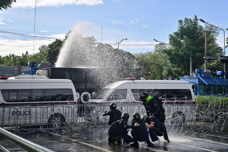 Police crack down on peaceful protest in Thai capital