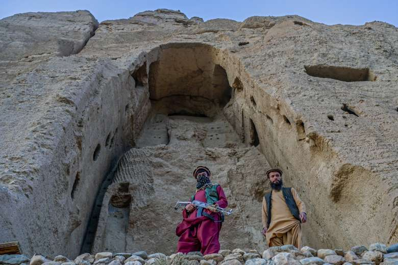 Taliban guard site of Bamiyan Buddhas they destroyed