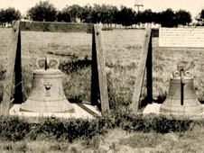 The Bells of Balangiga as photographed in 1910 at Fort D. A. Russell